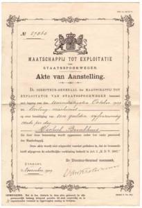Akte van aanstelling van Michiel Brinkhuis