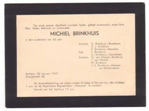 Rouwkaart van Michiel Brinkhuis